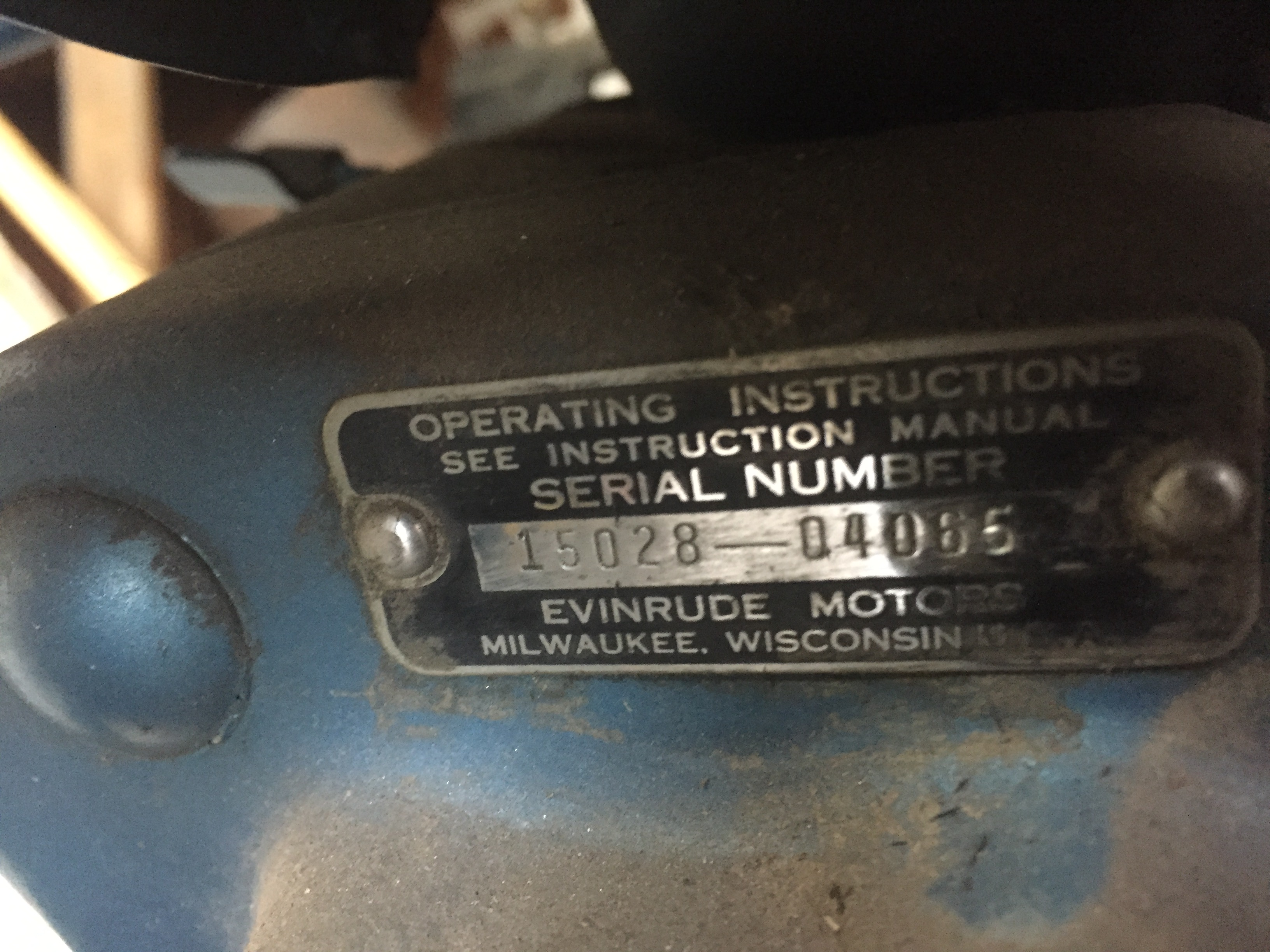 1959 Evinrude 18hp Electric Start – Antique Outboard Motor