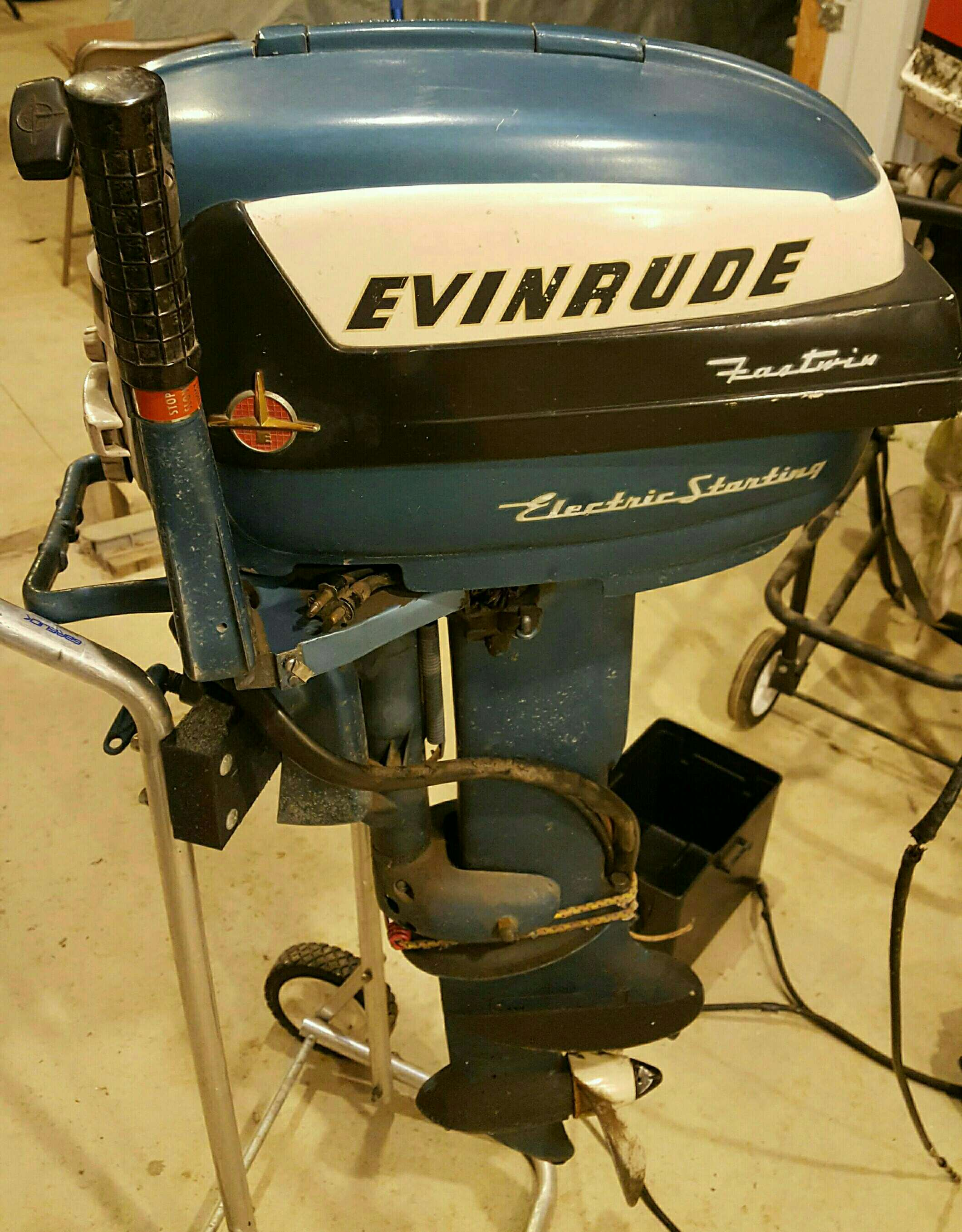 1956 Evinrude Fastwin 15 Electric Starting wiring – Antique