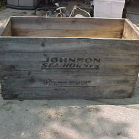 JOHNSON SHIPPING CRATE AVAILABLE AT CONSTANTINE MEET  BIG RICH